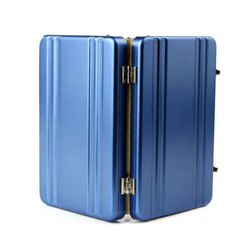 Mini Aluminum Safe Suitcase Briefcase Business Credit Bank Card Holder Box Case stainless steel aluminium metal case box men business credit card