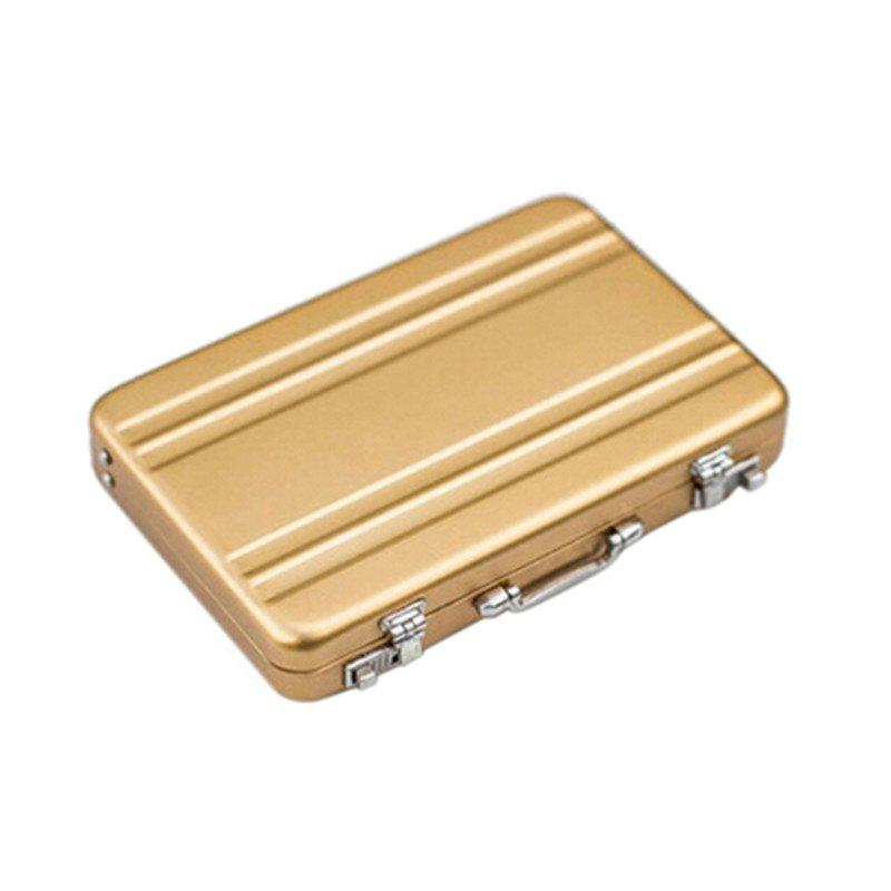 Mini Aluminum Safe Suitcase Briefcase Business Credit Bank Card Holder Box Case high quality 21 inches boy scooter suitcase trolley case 3d extrusion business travel cool luggage creative men boarding box