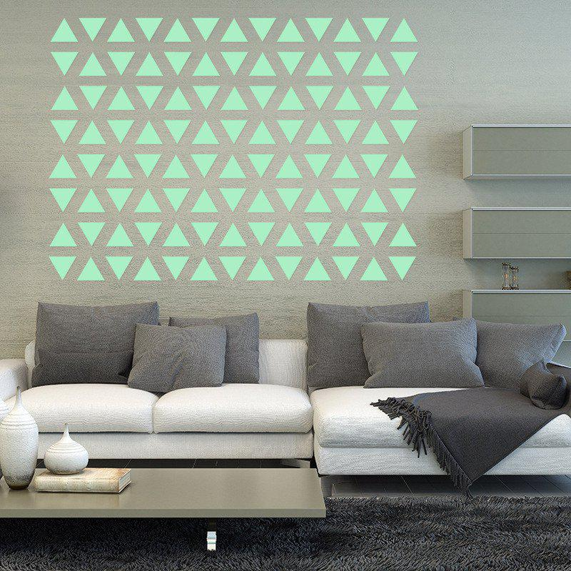 Noctilucent Engraving Adorable Triangle Cartoon Switch Wall Sticker triangle watercolor memo sticker 30sheets