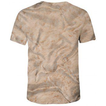 New Summer Fashion 3D Printed Men's Short Sleeve T-shirt - CHAMPAGNE M