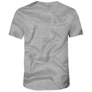 New Summer Fashion 3D Printed Men's Short Sleeve T-shirt - GRAY CLOUD 3XL