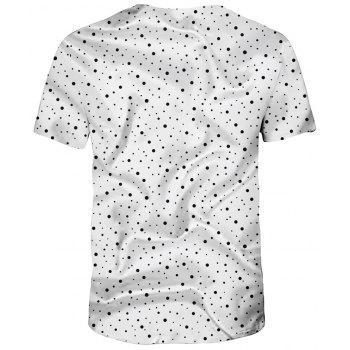 New Summer Fashion 3D Printed Men's Short Sleeve T-shirt - multicolor A S