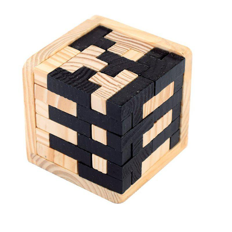 3d Wooden Puzzles Brain Teaser 54 T-Shaped Tetris Blocks Geometric Toy colorful wooden tangram brain teaser puzzle toys tetris game preschool magination intellectual educational kid toy gift