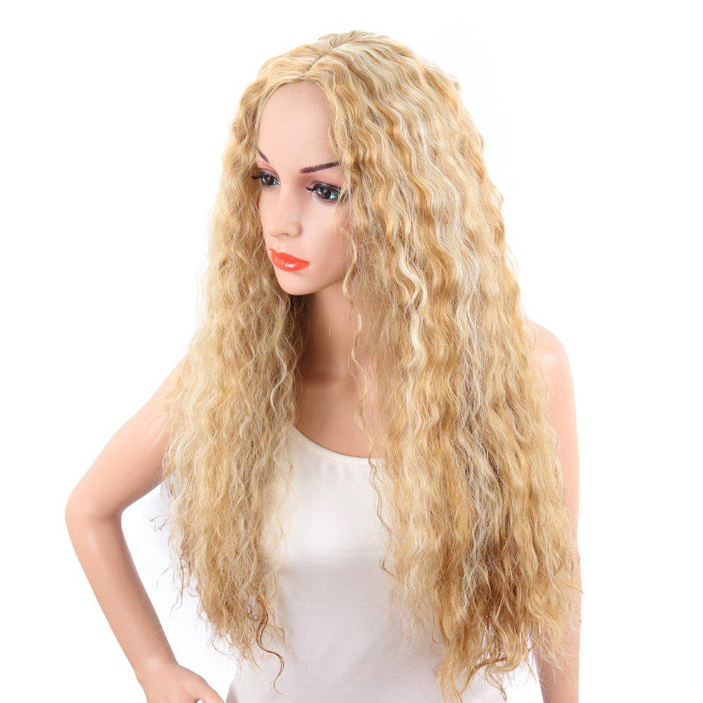 Light Blonde Corn Perm Long Curly Best Synthetic Hair Fashion Wigs for Women ford cup viscosity cup viscosity measurement cup paint viscosity cup 3 4 optional page 9