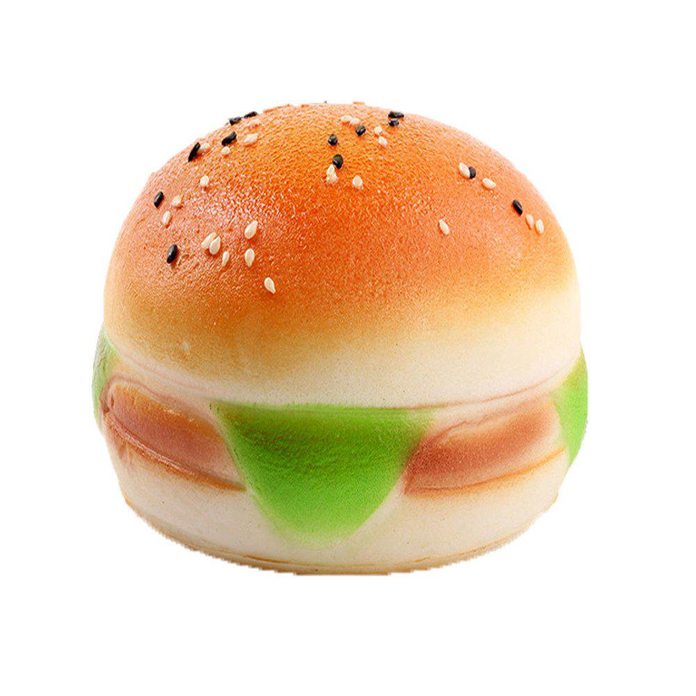 New PU Jumbo Squishy Slow Rebound Sesame Burger new pu slow rebound jumbo squishy penguin toys