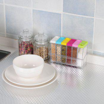 Kitchen Aluminum Foil Oil Proofed Heat Resistant Self Adhesive Wall Sticker - SILVER