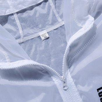 Men Outdoor Sport UV Sun Protection Quick Dry Slim-Fit Thin Transparent Jacket - WHITE XL
