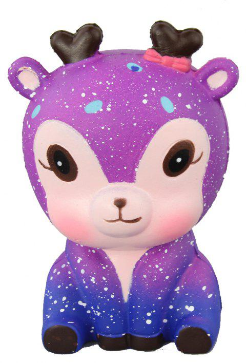 Jumbo Squishy Starry Deer Relieve Stress Toys - PURPLE