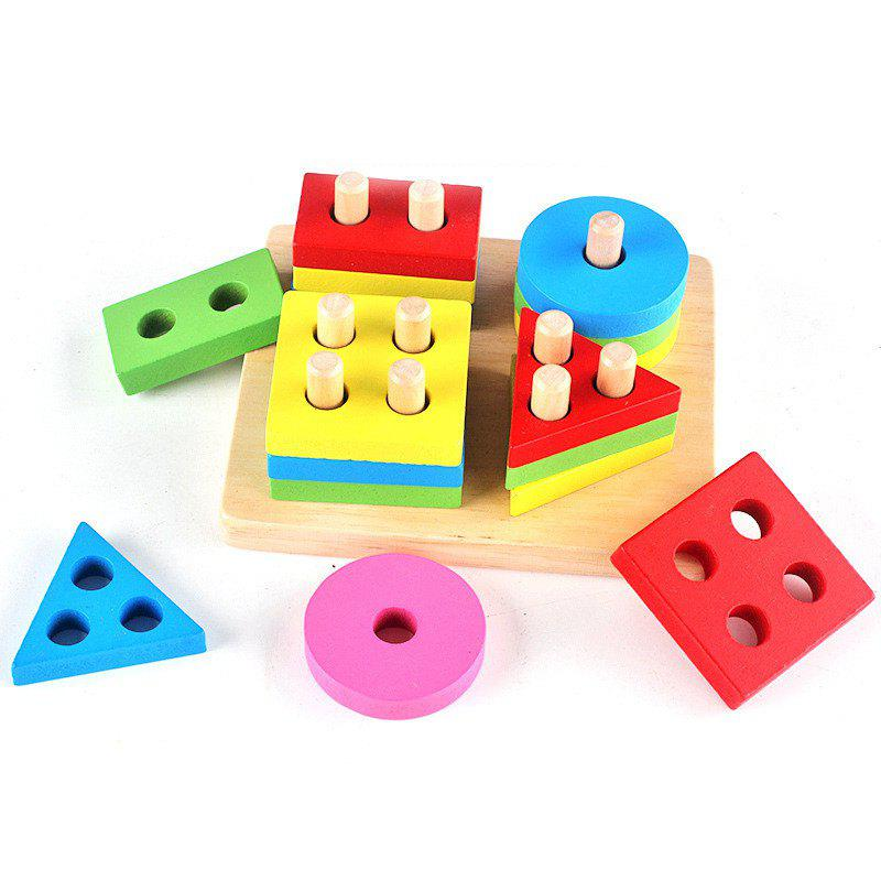 Intellectual Shape Match Puzzle Column Toy for Kids