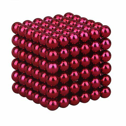 Magnetic Cube 216PCS Children'S Puzzle Buckyballs Magic DIY Educational Toy - RED