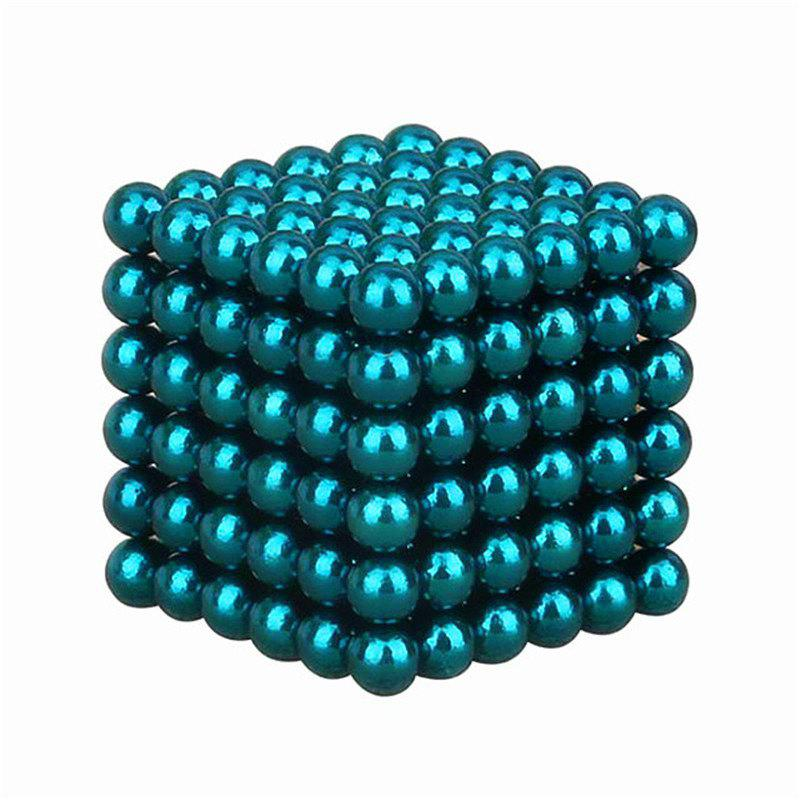 Magnetic Cube 216PCS Children'S Puzzle Buckyballs Magic DIY Educational Toy - TURQUOISE