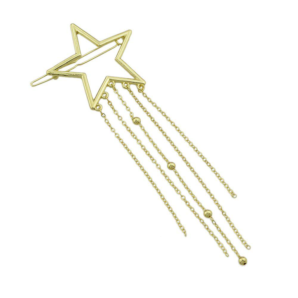 Gold-color Star Multi Layers Tassel and Beads Hairgrips - GOLD