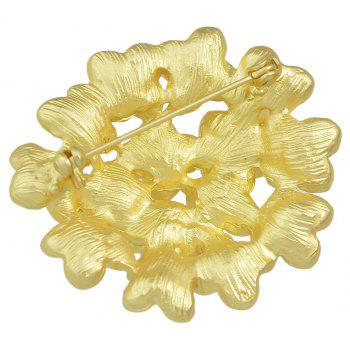 Gold-color Flower Brooches for Fashion Lady - GOLD