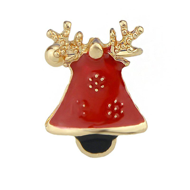 Red Enamel Bell Ear Cuff Cartilage Clip Earrings lerado тайны океана