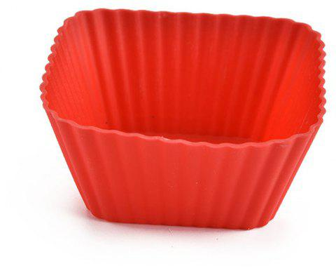 5 PCS Baking Molds Square Muffin Cake DIY Mold Durable Safe Practical  Tool - FERRARI RED