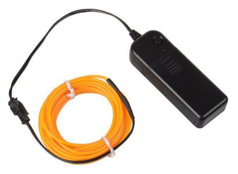 3m Neon Light Electroluminescent Wire / El Wire with Battery Pack - YELLOW