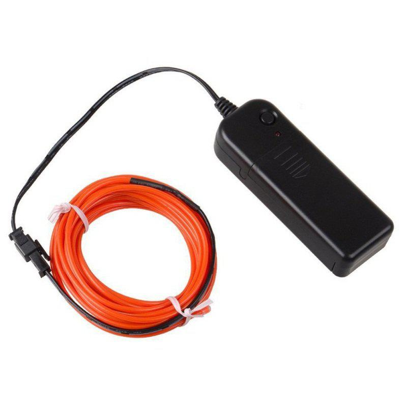 3m Neon Light Electroluminescent Wire / El Wire with Battery Pack - MANGO ORANGE