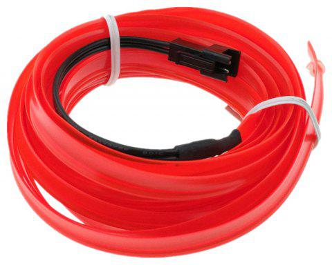 3m USB Neon LED Light Glow Electroluminescent Wire / El Wire for Car Cosplay - FIRE ENGINE RED