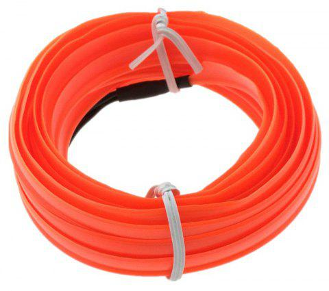 3m USB Neon LED Light Glow Electroluminescent Wire / El Wire for Car Cosplay - MANGO ORANGE