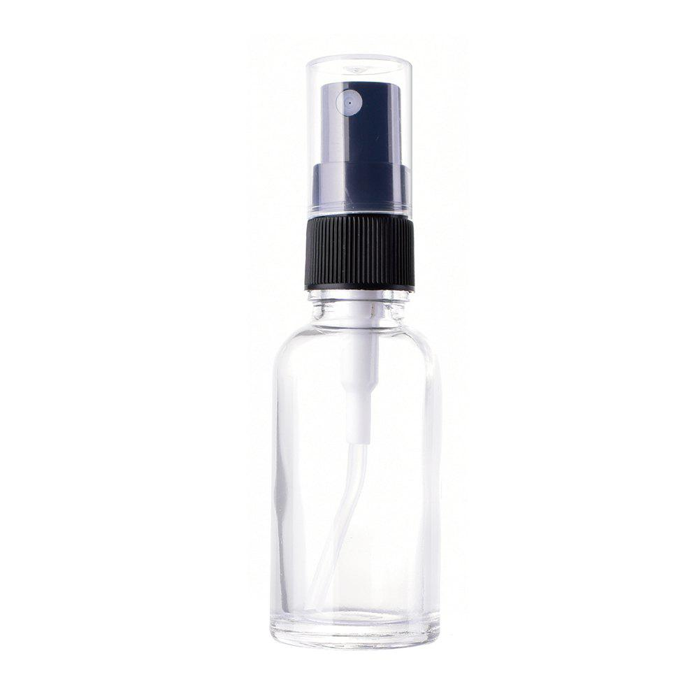 Set of Four 30ML Clear Glass Spray Bottles with Black Fine Mist Sprayers free shipping 30ml lucifugal glass spray bottle fine mist cosmetic perfume packaging bottle red green black nozzle