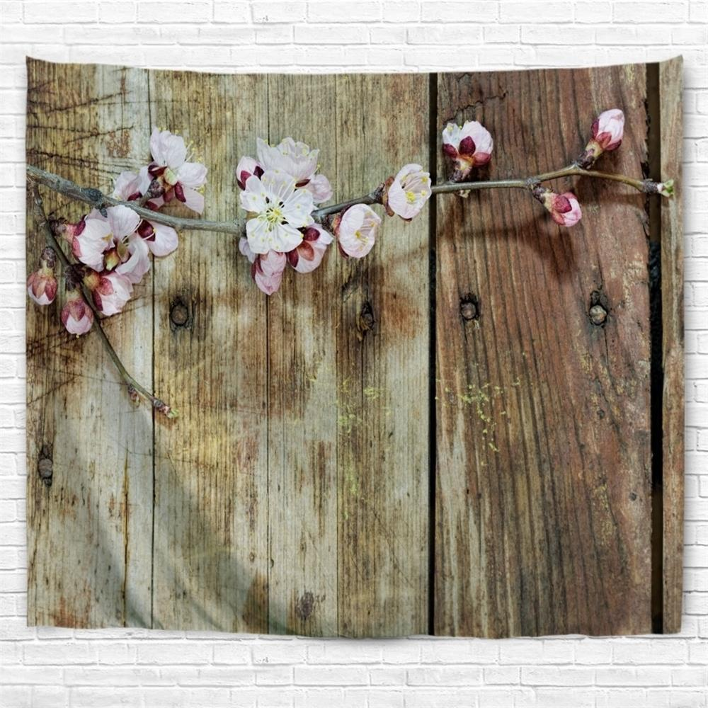 Board Flowers 3D Printing Home Wall Hanging Tapestry for Decoration wedding photo backdrops white flowers hanging lights computer printing background gray wall murals backgrounds for photo studio