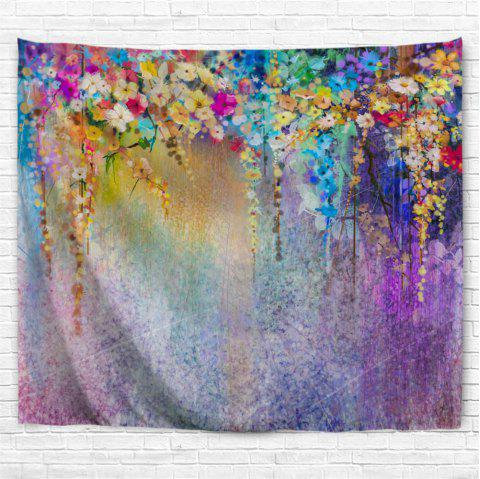 Floral Watercolor Painting 3D Printing Home Wall Hanging Tapestry for Decoratio - multicolor A W230CMXL180CM