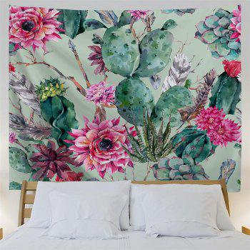 Floral Cactus 3D Printing Home Wall Hanging Tapestry for Decoration - multicolor A W203CMXL153CM