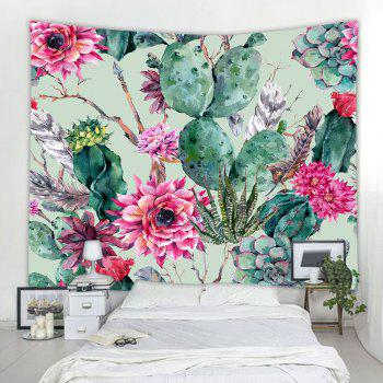 Floral Cactus 3D Printing Home Wall Hanging Tapestry for Decoration - multicolor A W230CMXL180CM