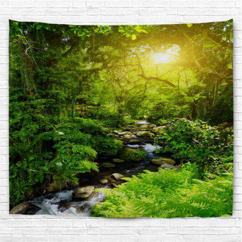 Forest Creek  3D Printing Home Wall Hanging Tapestry for Decoration - multicolor A W153CMXL130CM