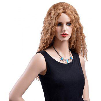 Blonde Mixed Heat Resistant Synthetic Hair Long Wave Curly Party Wigs for Women - BLONDE 26INCH