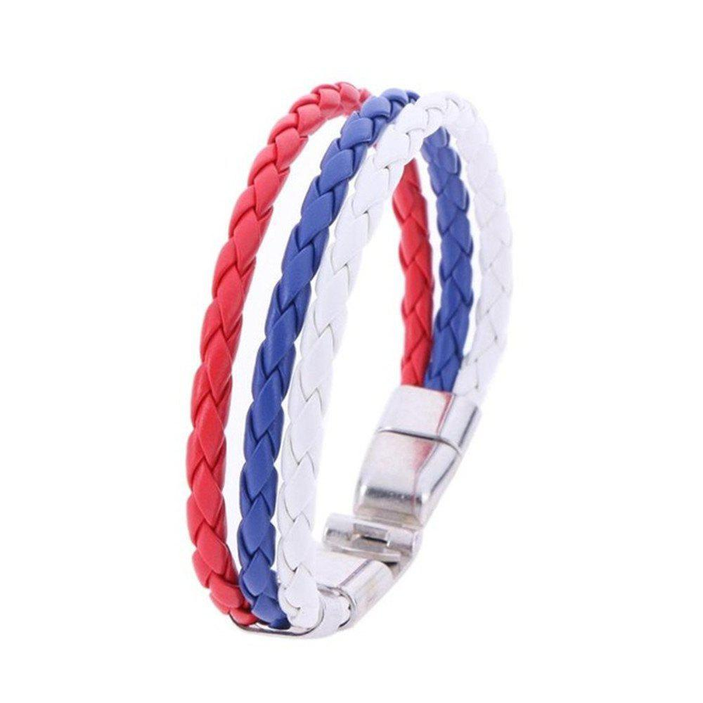 National Unisex Bracelet for Football Soccer Fans - multicolor K