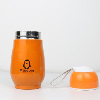 Candy Color Thermos Stainless Steel Penguin Vacuum Flask Cup for Children 250ml - ORANGE