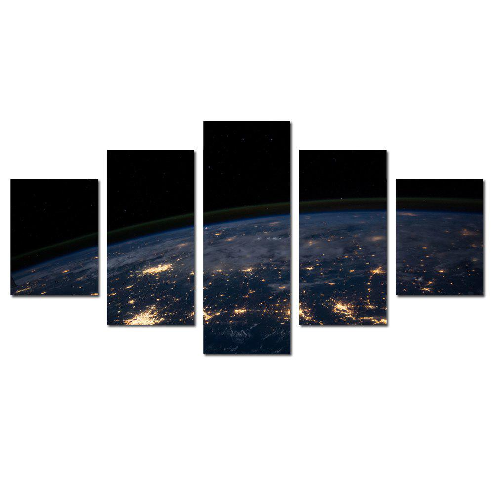 W356 Earth Spaces Unframed Wall Canvas Prints for Home Decorations 5PCS great spaces home extensions лучшие пристройки к дому