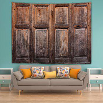 Old Wooden Windows 3D Printing Home Wall Hanging Tapestry for Decoration - multicolor A W200CMXL180CM