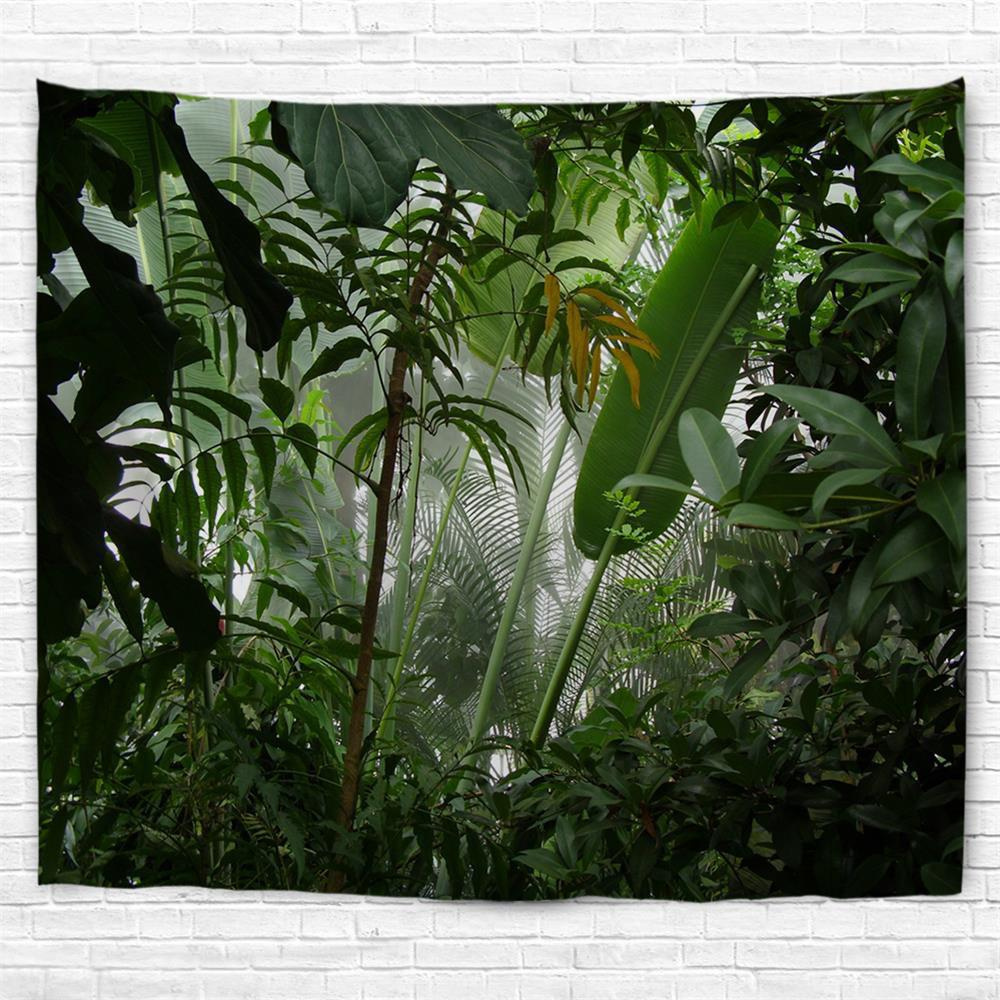 Misty Rainforest 3D Printing Home Wall Hanging Tapestry for Decoration - multicolor A W230CMXL180CM