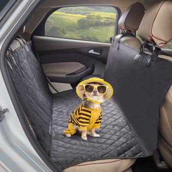 600D Oxford Pet Dogs and Cats Back Seat Bench Waterproof Non-Slip Mat - BLACK