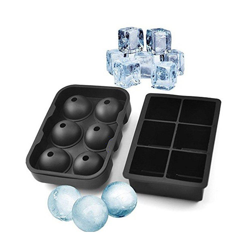 Ice Cube Trays Silicone Set of 2 Sphere Round Ice Ball Maker ice cube maker for vip
