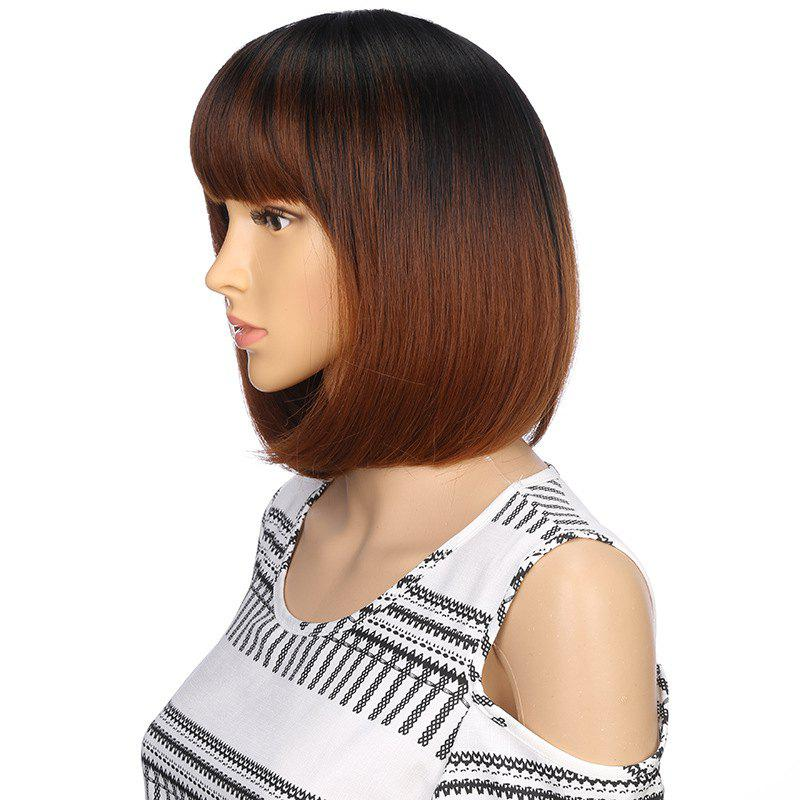 Fashion Short Black Brown Bob Natural Straight Hair Synthetic City Party Wigs pretty short straight blonde 8 synthetic hair wigs free shipping