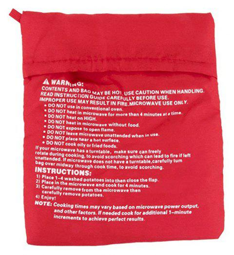 Washable Cooker Bag Baked Potato Microwave Cooking - RED