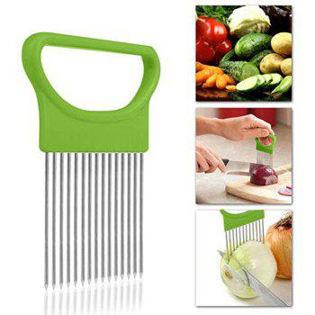 Slicer Vegetable Fruit Cutter Safety Onion Holder Cooking Tool - CHARTREUSE