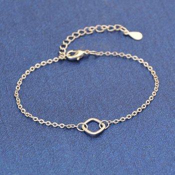 Simple Silver Color Line Square Bracelet - SILVER