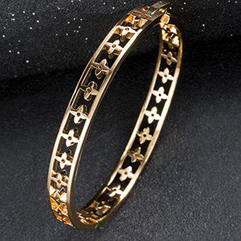New Style Temperament Large Hollow-Out Flower Bracelet - GOLD