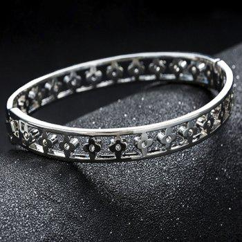 New Style Temperament Large Hollow-Out Flower Bracelet - SILVER