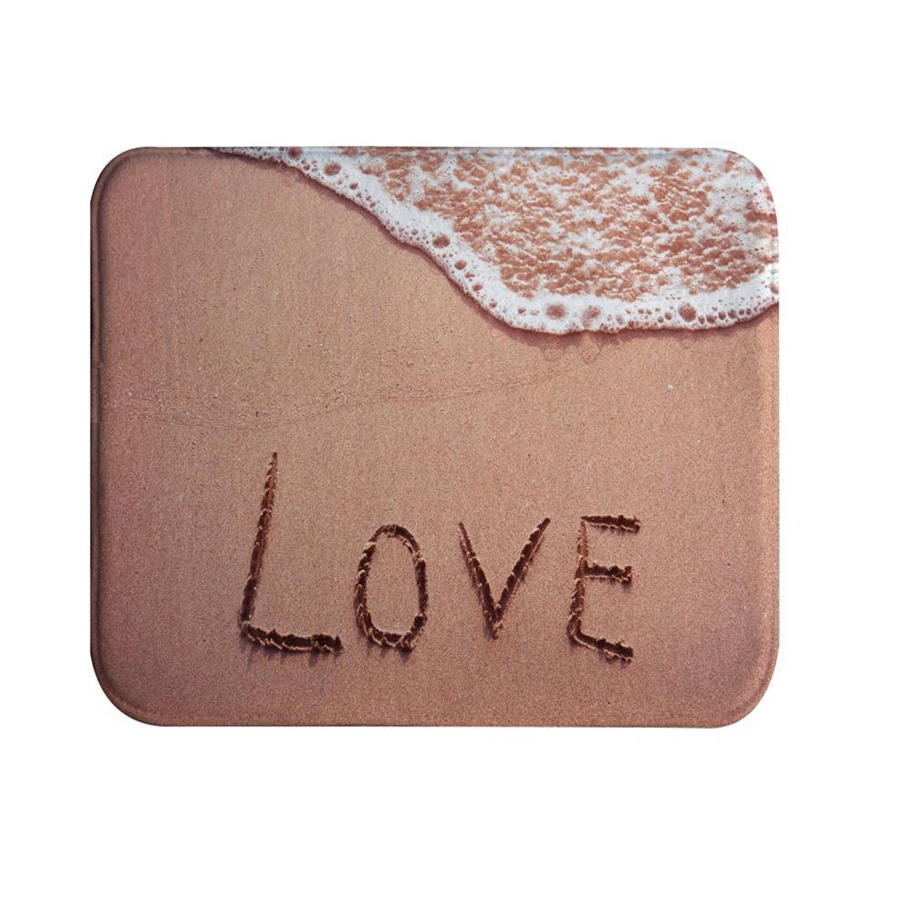 Beach Letters Super Soft Non-Slip Bath Door Mat Machine Washable Quickly Drying pink girl super soft non slip bath door mat machine washable quickly drying