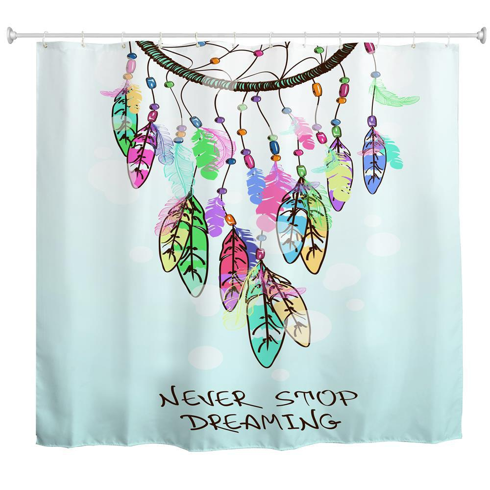 Dreamcatcher Water Proof Polyester 3D Printing Bathroom Shower Curtain
