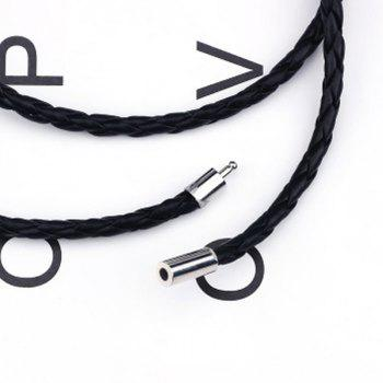 Fashion Unisex Leather Bracelet Jewelry Brand Trendy Bangles - BLACK