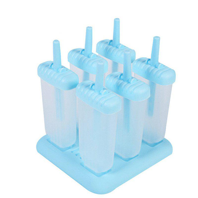 6pcs Ice Cream Popsicle Mold Cooking Rectangle Shaped Reusable Tools kitchen tools plastic meat diy mold