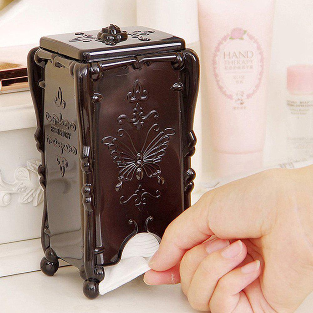 Acrylic Makeup Cotton Pad Cosmetic Organizer Case Storage Box
