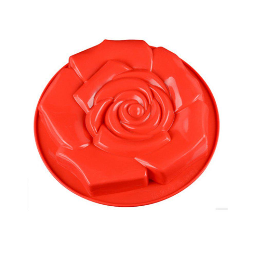 Rose Flower Shape Silicone Cake Pan Kitchenware DIY Mold creative romantic love rose design silicone cake mold 2pcs