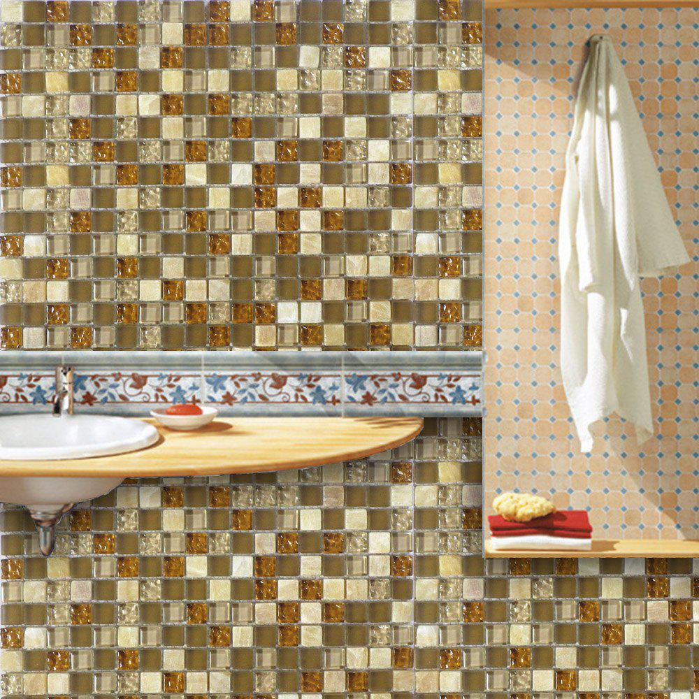 Фото Wall Stickers Removable Mosaic Aluminum Foil Tile
